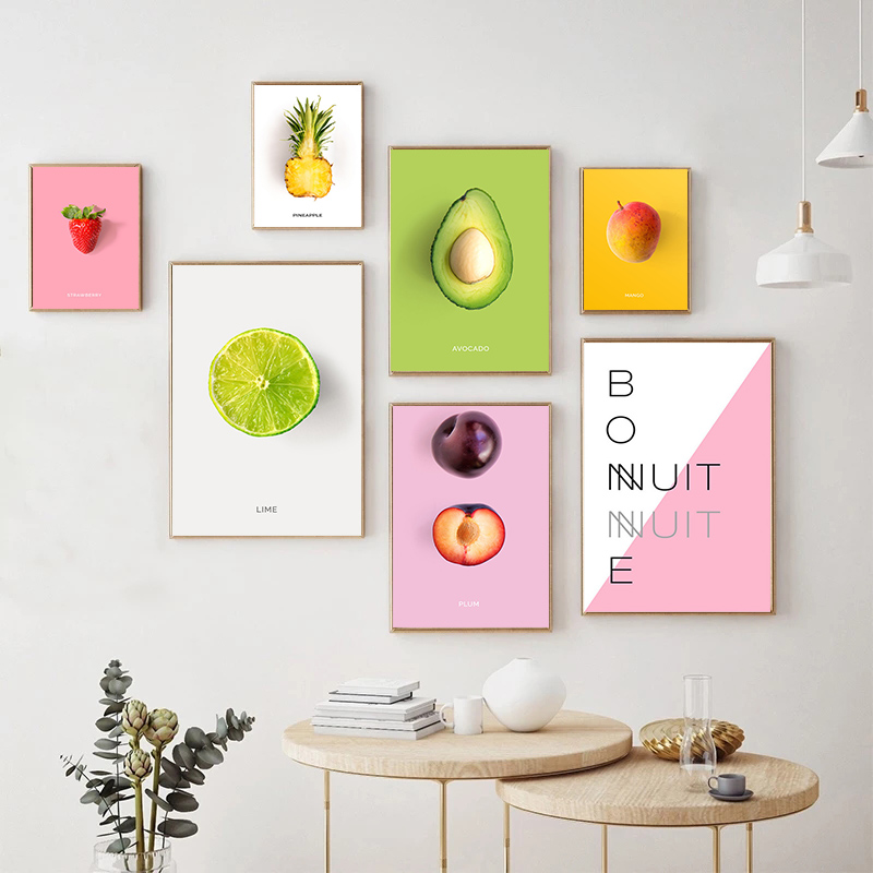 Fruit Kitchen Canvas Painting Pineapple, Dining Room Posters And Prints
