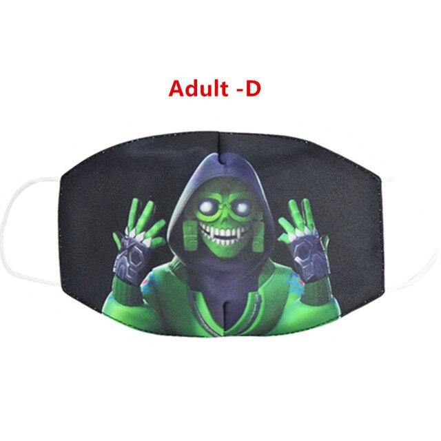 2020 New Breathable Protective Face Masks Men Women Kids Unisex Soft Cartoon Anti-flu Anti-smog Anti-Dust Motorcycle Mask 4