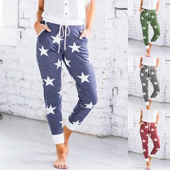 Plus rozmiar spodnie dresowe damskie spodnie taniec Hip Hop Harem elastyczne spodnie damskie spodnie sportowe spodnie treningowe damskie spodnie typu Casual tanie i dobre opinie OLOMLB COTTON Pełnej długości CN (pochodzenie) Wiosna jesień hx1225 GEOMETRIC Na co dzień Proste Mieszkanie REGULAR