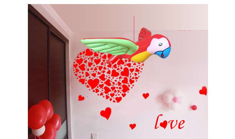 Inflatable Animal Inflatables Child Pvc Inflatable Parrot Card Ventilation Model Can Hang Stage Party Wedding Birthday