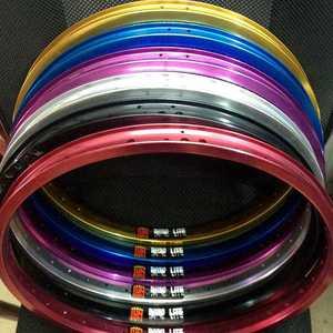 20-дюймовые колеса bmx с 36 отверстиями, двухслойные Велосипедные обода для bmx, с фиксированной передачей, для уличного велосипеда, цветные обод...