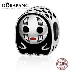 DORAPANG Новинка 2018, 100% серебряный шарм с самостоятельным дизайном, креативный черный шарик для лица, подходит для оригинальных браслетов, сдел...