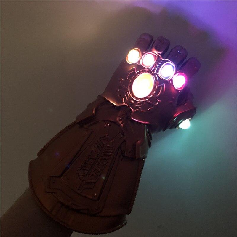 Amerykański superbohater broń 1:1 rękawice LED Light War Cosplay rękawice PVC Action modele na prezent Halloween Kids|Rekwizyty do strojów|   -