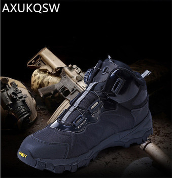 Men's Shoes Tactical Military Boots Outdoor Rapid Response BOA System Hunting Safety Comfortable Sports Shoes 2019 Hiking Shoes 2