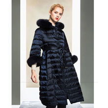 2020 Down Jacket Woman Hooded Long Winter Coat Women Real Fo
