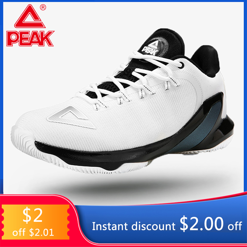 PEAK TONY PARKER V Basketball Shoes Professional Men's Drop in Cushioning Breathable Basketball Sneakers Sports Outdoor Peak TP9