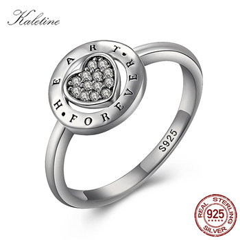 Vintage Allure Radiant Heart Elegance Ring Women Sterling 925 Silver Rings Heart Forever Love CZ Jewelry Wedding Band KLTR091