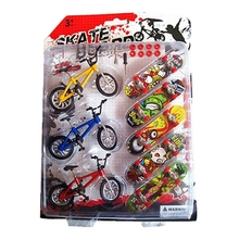 8 Pcs/set Toy Mini Skateboards Bicycles Children Kids Gifts Cool Funny Educational
