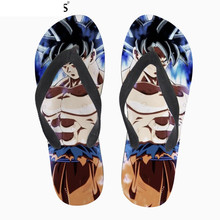 Мода пользовательские DIY печать изображения мужские летние резиновые тапочки круто супер Саян Сон Гоку Дракон г мяч флип-флоп флип-флоп Ева