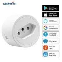Brasile Smart Socket WIFi Smart Plug con Tuya SmartLife Power Timer controllo vocale 16A Surge protector funziona per Alexa Google Home
