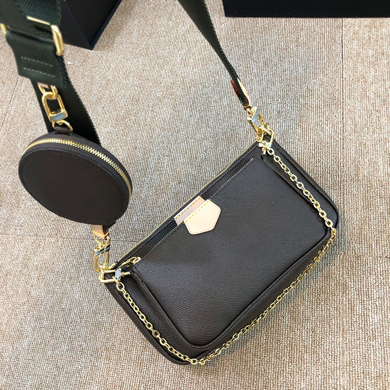 Three In One Luxury Women's Bag Three Piece Set Single Shoulder Slant Cross Handbag 2020 New Big Brand Design Chain Bag