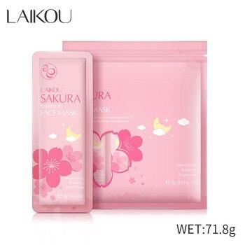 LAIKOU Sakura-mascarilla para dormir en bolsa, de 3g, 15ml, fácil de absorber, Reparadora de ácido hialurónico, cuidado de la piel, esencia de algas marinas hidratante