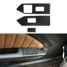 for Ford Mustang 2009 2013 Window Lift Switch Control Panel Decoration Cover Trim Decal Carbon Fiber Car Interior Accessories