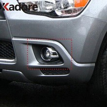 Für Mitsubishi Outlander Sport ASX 2010 2011 2012 ABS Chrom Front Foglight Nebel Licht Abdeckung Trim Auto Außen Zubehör