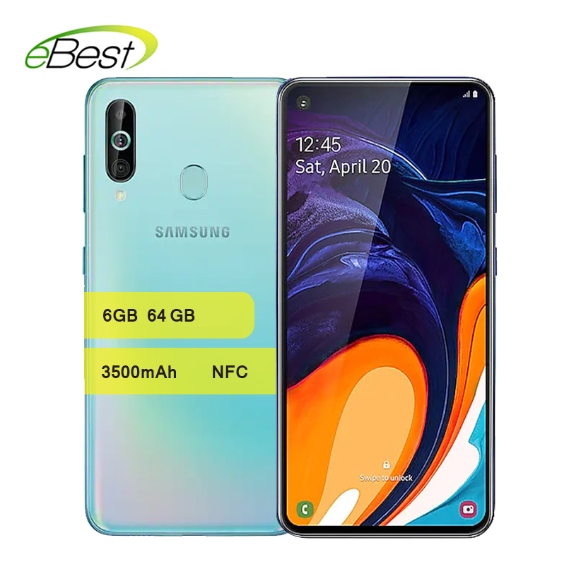 Samsung Galaxy A60 4G Android Smartphone 6.3 Inch Full Screen Snapdragon 675 Octa Core 6GB 3500mAh 32MP Camer NFC Mobile Phone