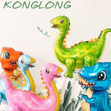 Large 4D walking dinosaur birthday party decor balloons Kids Babyshower Gender Reveal Dinosaur Party Decor Globos 1pc