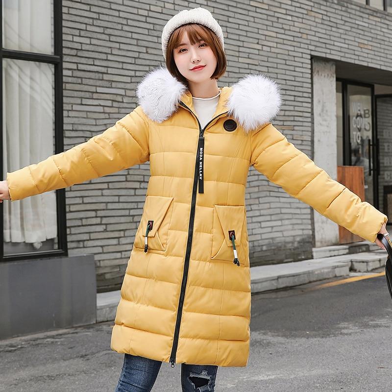 2019 New plus size 7XL Parka Womens Winter Coats Womans Long Cotton Casual Fur Hooded Jackets Warm Parkas Female Overcoat