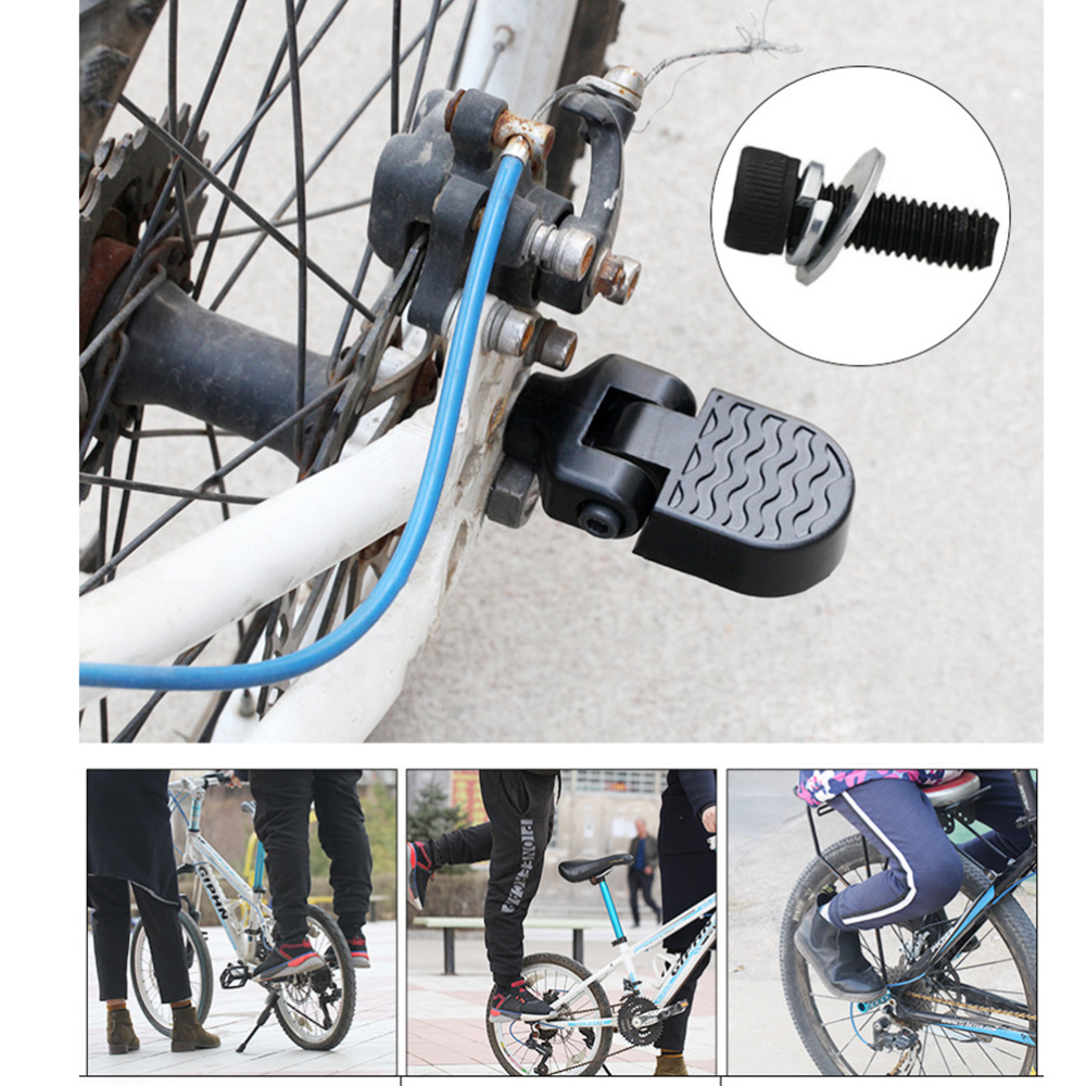 Portable Bike Rear Foot Folding Pedal Kid Carrier Bicycle Baby Seat Footpegs