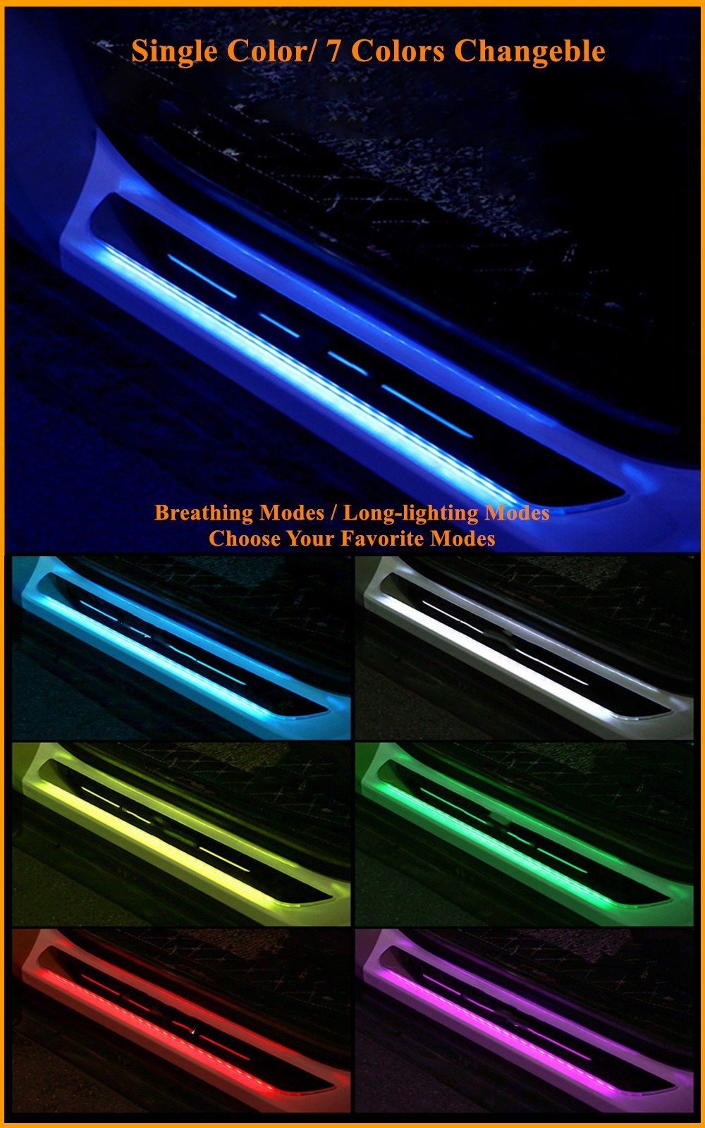 Auto Acrylic Magnetic LED Light Pedal