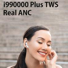 I990000 plus tws anc fones de ouvido 1562a chip ruído ativo cancelar 10d super bass bluetooth sensor luz pk i9000 i99999 tws