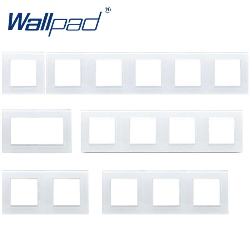 Wallpad لوحة بيضاء الزجاج إطار 86*86 مللي متر 146*86 مللي متر 172*86 مللي متر 258*86 مللي متر 344*86 مللي متر 430*86 مللي متر إطار فقط