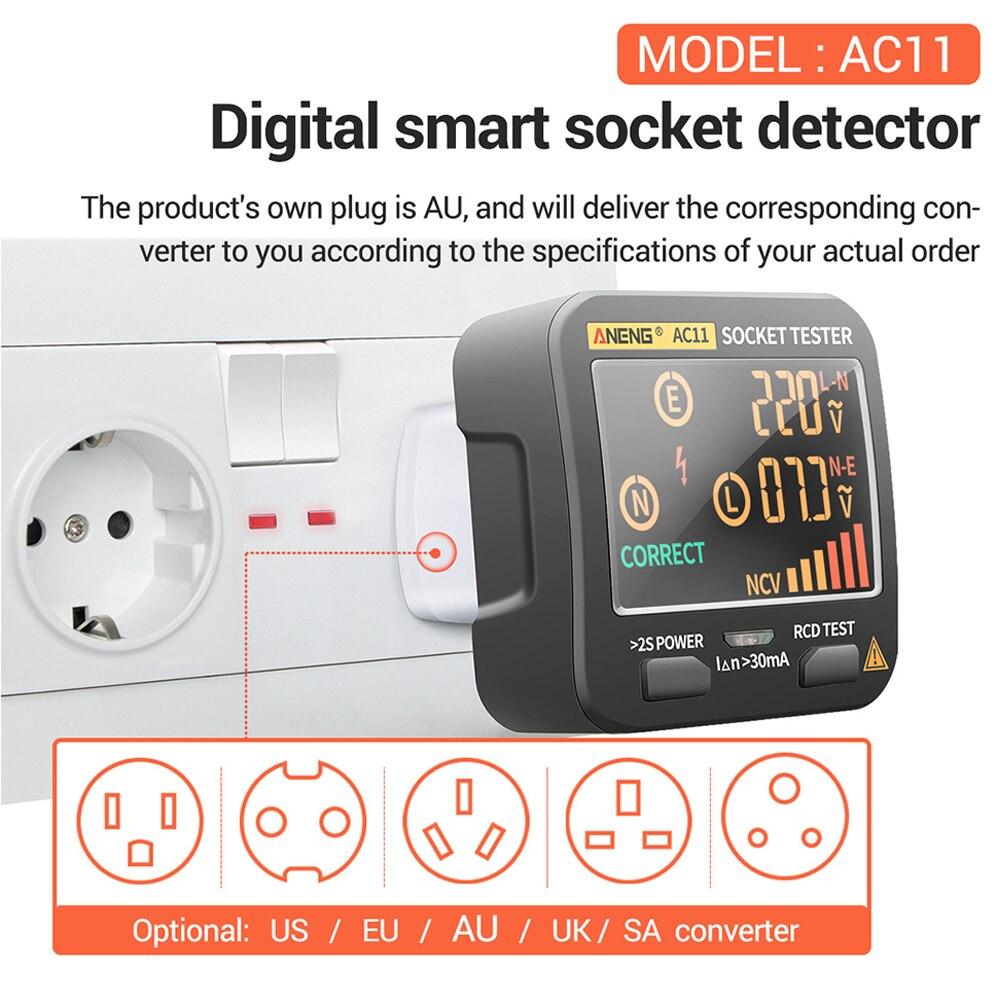 Proteção contra vazamento disjuntor finder soquete tester
