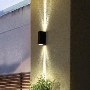 Image 5 - LED su geçirmez duvar lambası kapalı ve açık IP65 alüminyum yukarı ve aşağı aydınlatma 2x3W COB sundurma bahçe yatak odası banyo ZBD0020