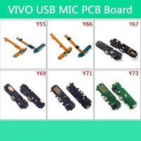 Vivo y55 y66 y67 y69 y71 y73 usb 충전 플렉스 케이블 ic 마이크 헤드폰 잭 마더 보드 진동 모터 액세서리 부품
