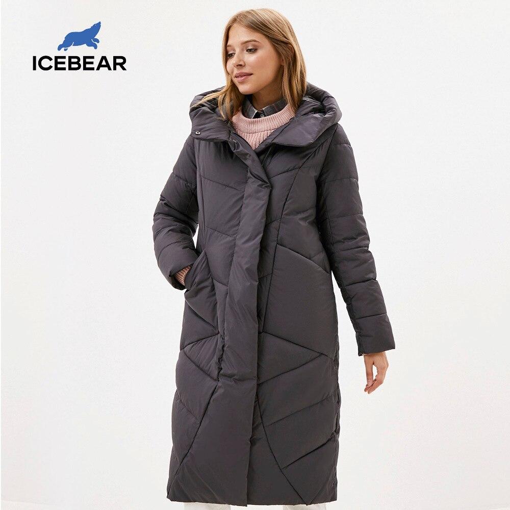 ICEbear 2020 delle Nuove Donne Con Cappuccio Giacca Casual Inverno Ispessisce I Vestiti di Cotone di Modo delle Donne di Marca di Abbigliamento GWD20127D