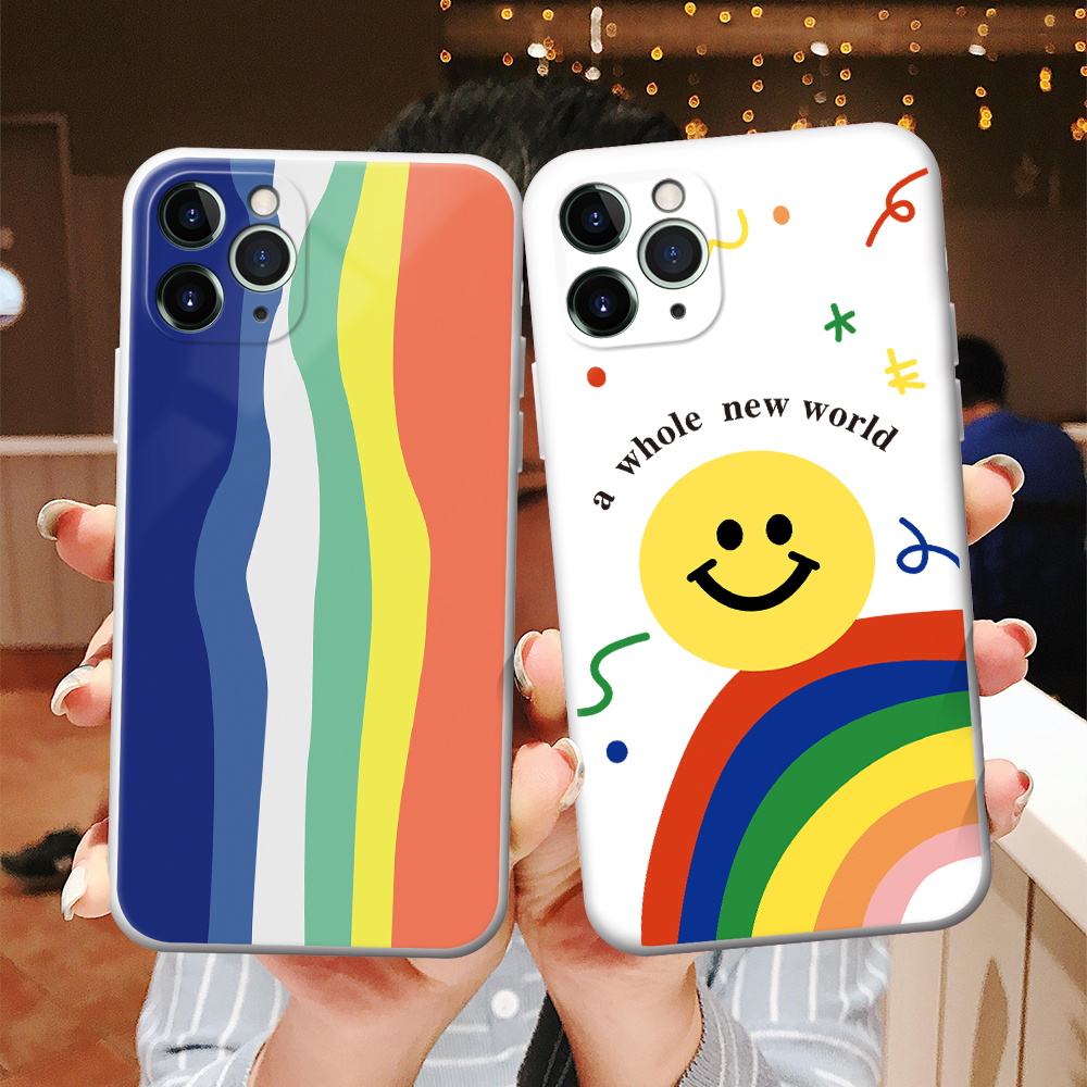 Красочные Блок Чехол для мобильного телефона для iphone 12 11 Pro Max SE 2020 7 8 Plus X XR XS Творческий Мягкий силиконовый чехол