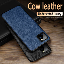 Luxury cowhide Ultra Thin Cases For iPhone SE 2020 7 8 Plus XR XS Max Cover Soft cow leather TPU case For iPhone11 Pro Max Shell