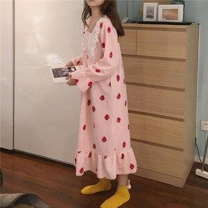 Image 5 - ナイトガウン女性のレースのパッチワーク正方形の襟甘いエレガントな王女のプリントかわいいヴィンテージシックなシンプルなフレアスリーブ