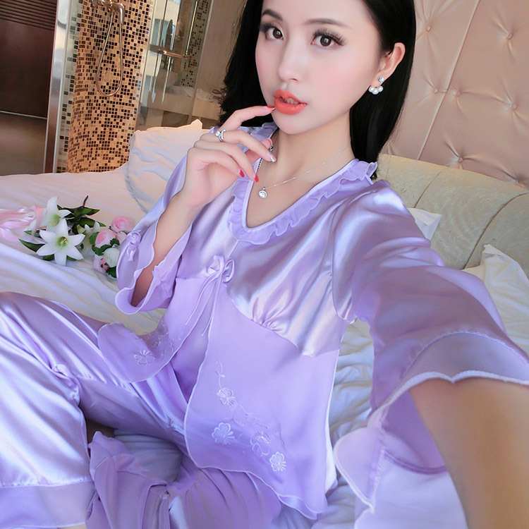 [ZL # Series Collection 2] Huge Loss Seckilling Send Sell WOMEN'S Long Sleeve Pajamas Tracksuit Two-Piece Set