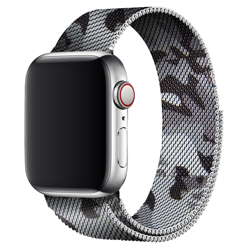 40mm 44mm White Camouflage Sport Loop Band Milanese For Apple Watch Series 4 38mm 42mm Watch Band Bracelet For Iwatch Series 3