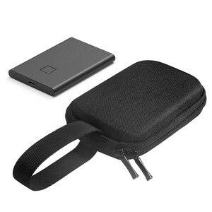 Image 2 - Étui de protection de stockage EVA pour Samsung T7 Touch Portable SSD disques statiques externes sac de transport avec couvercle en Silicone