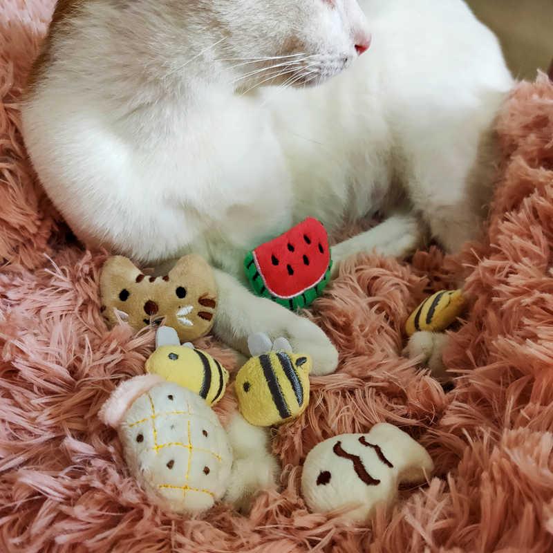 [Juguete de hierba gatera MPK] ¡Compre 3 artículos y obtenga un 30% de descuento! Nuevo diseño de la cara del gato 2019, juguete del gato, almohada del gato de la galleta de hierba gatera