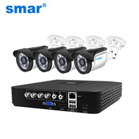 Smar CCTV 4CH 720P/1080P AHD Camera Kit P2P HDMI H. 264 DVR Video Surveillance System Waterproof Outdoor Security Camera Kit