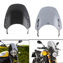 Motorcycle Touring Front Flyscreen Windscreen Windshield Shield Screen With Mounting Bracket For Ducati Scrambler 2015- 2019 for bmw g310r 2017 on motorcycle windshield windscreen with mounting bracket high quality abs plastic