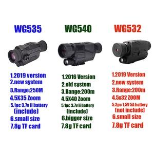 Image 2 - WG540 אינפרא אדום דיגיטלי ראיית לילה חד עיניות עם 8g TF כרטיס מלא כהה 5X40 200m טווח ציד משקפת ראיית לילה אופטיקה