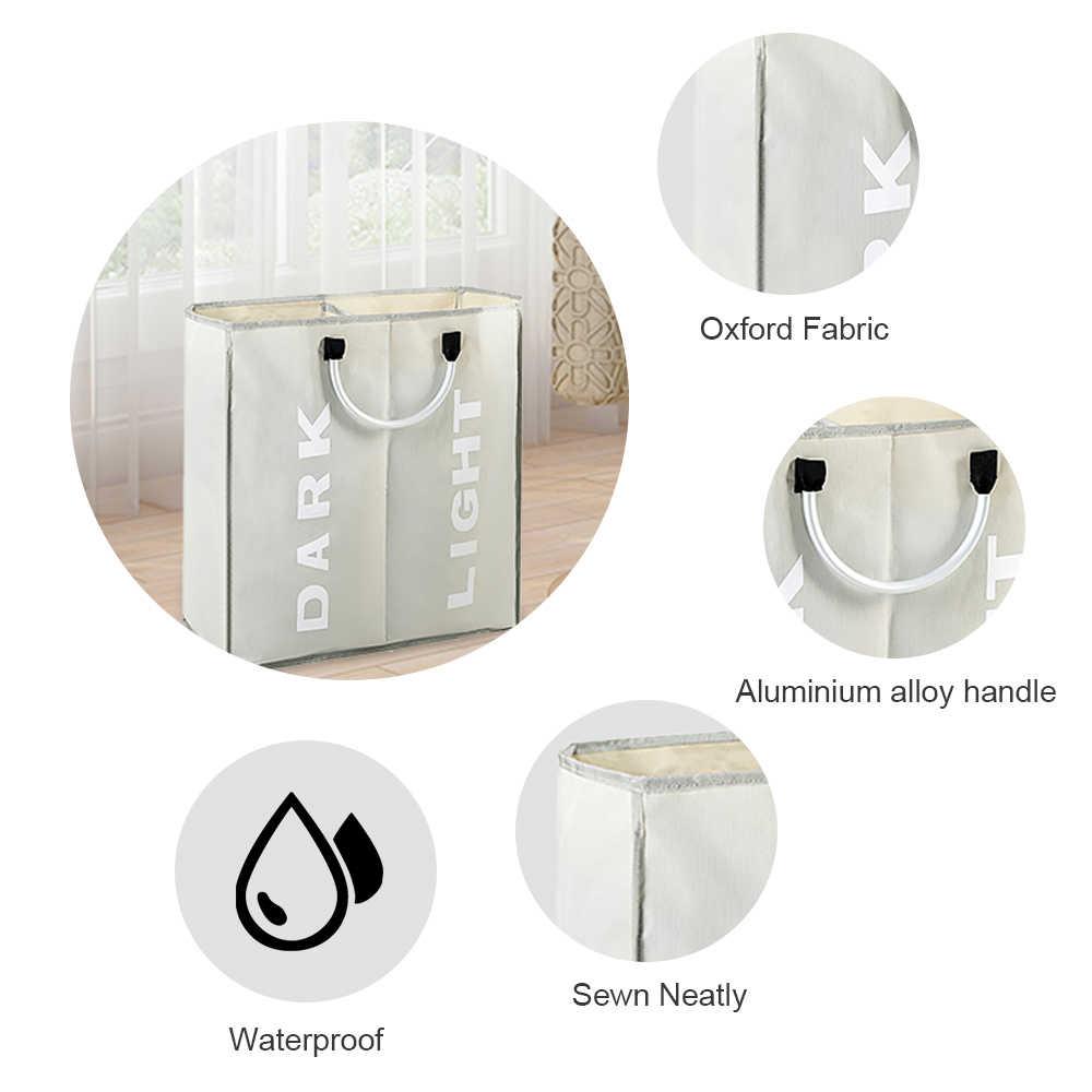 Su geçirmez katlanabilir çamaşır sepeti kirli giysiler sepet baskılı katlanabilir saklama kutusu çeşitli eşyalar sıralayıcı sepeti kolları ile 1 adet