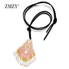 ZMZY Boho Vintage MIYUKI Glass Delica Seeds Necklace Women Fashion Jewelry Handmade Necklaces Bijoux Femme Ladies Party Gift цены