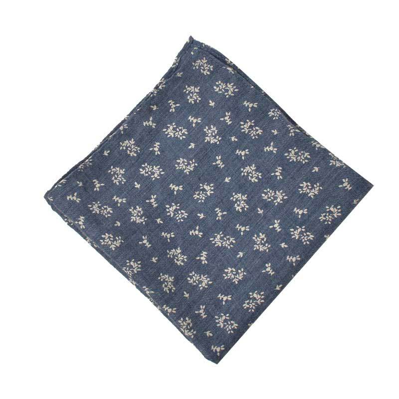 Men Pocket Square Cotton Printed Handkerchief Men Small Square Towel Customizable