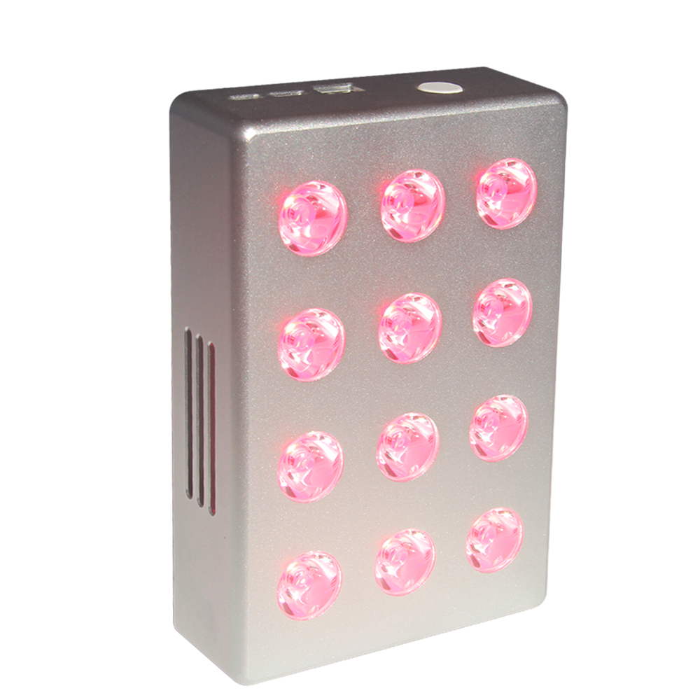 PDT Machine Red Near Infrared Red Light Therapy Panel 12W With 850nm 660nm And Battery LED Therapy Light