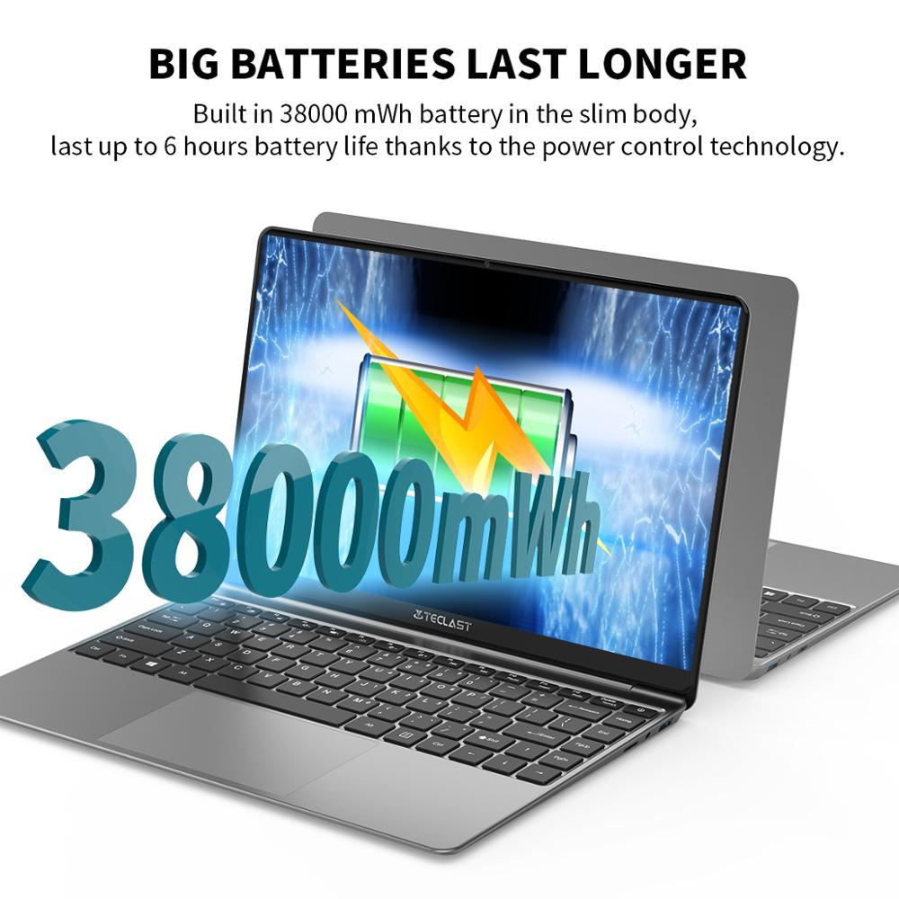 "Newest Laptop Teclast F7S 14.1"" 1920x1080 IPS Notebook 8GB RAM 128GB ROM Laptops Windows 10 Intel Apollo Lake Dual Wifi Computer 5"