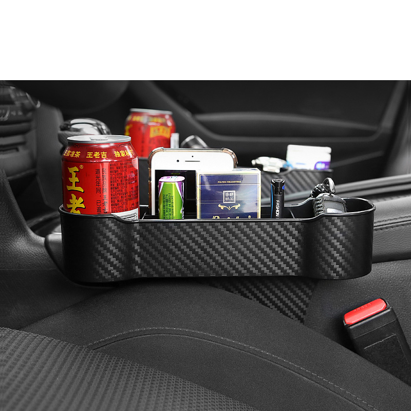 Lsrtw2017 Abs Car Seat Gap Storage Box For Geely Boyue Xc60 Atlas 2016 2017 2018 2019 2020 Carbon Fiber Interior Accessories