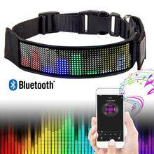 Led Pet Collars Rechargeable Programmable Fast Charge Easy Customize Ready to Wear Works in All Weather  Mixed Color Messages