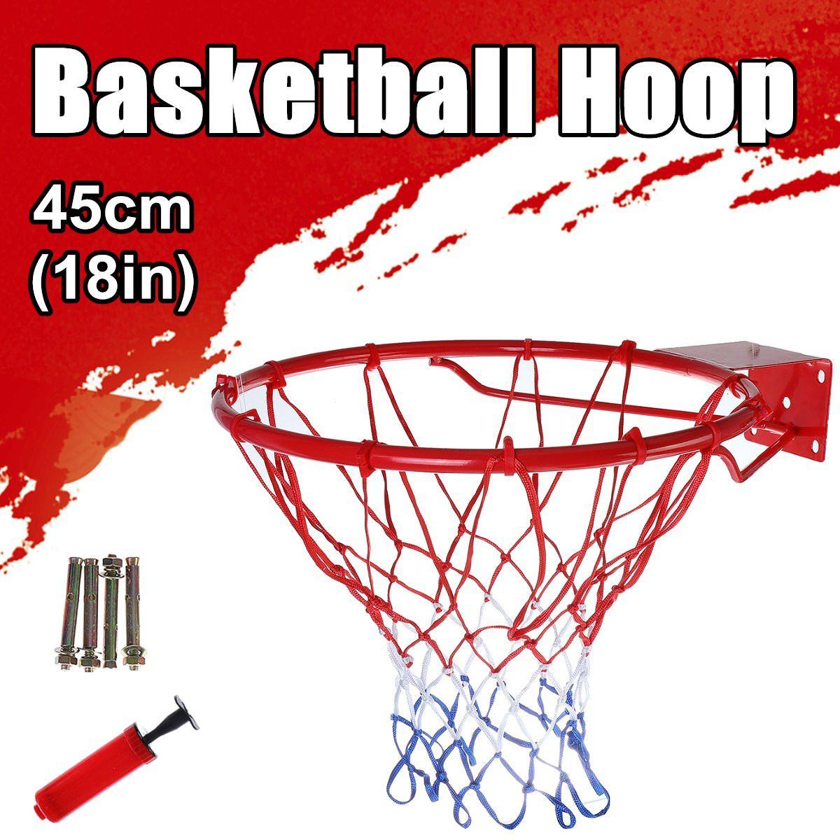 Спортивная баскетбольная игра мяч кольцо обруч Стенд задняя доска корзина для взрослых детей полностью твердый металлический пружинный тр...