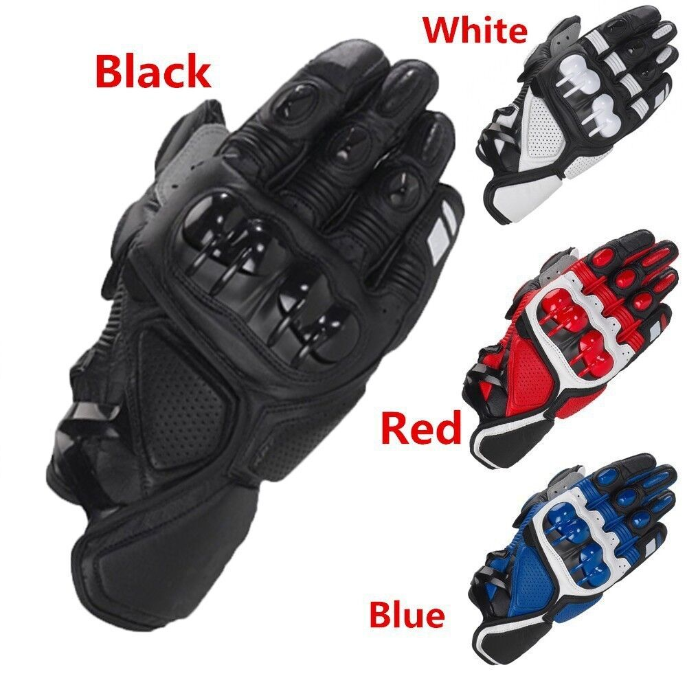 Genuine Leather Racing Touchscreen Waterproof Gloves Motorcycle ATV Downhill Cycling Riding Genuine Leather Gloves