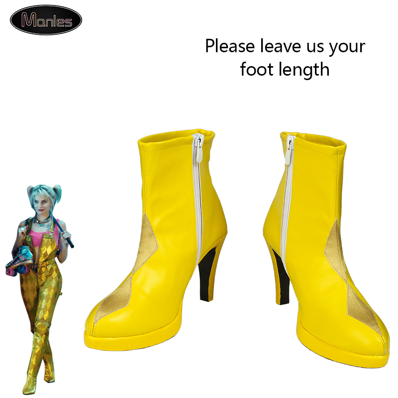 Suicide Squad Harley Quinn Boots Movie Cosplay Costumes Shoes High Heels Custom