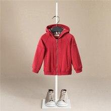 2020 Winter Girls Boys White Plus Velvet Stripe Coats Child Down Jacket Hooded Outdoor Thicken Warm Kids Snow Wear Jacket